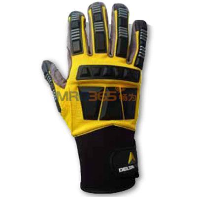 (209900)    代尔塔201372 乳胶一次性手套,双层超级尼龙纤维加强掌面