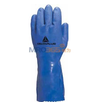 代尔塔201780 pvc涂层棉绒衬里手套